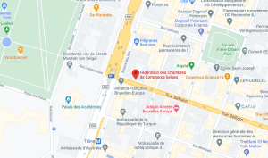 Federation of Belgian Chambers of Commerce of Google Maps