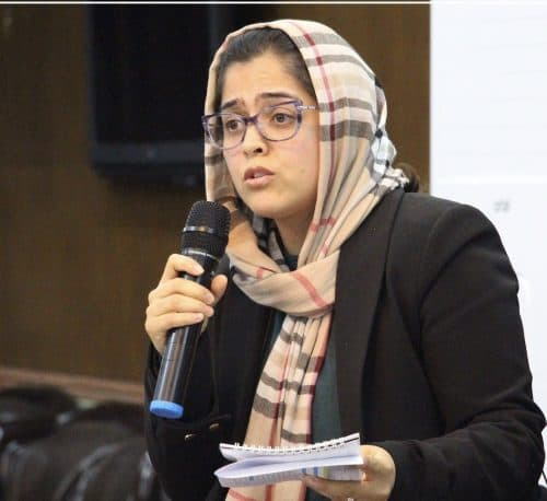 Photo of Manizha Wafeq, President of the Afghanistan Women Chamber of Commerce and Industry