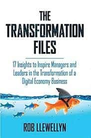 Visual of The Transformation Files: 17 Insights to Inspire Managers and Leaders in the Transformation of a Digital Economy Business by Rob Llewellyn