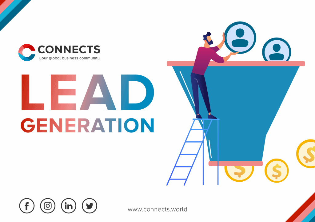 Visual of Lead Generation with CONNECTS logo