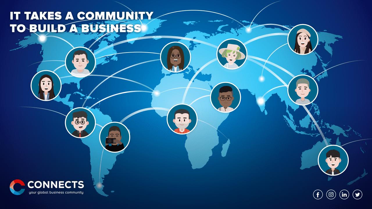 Visual of online business communities